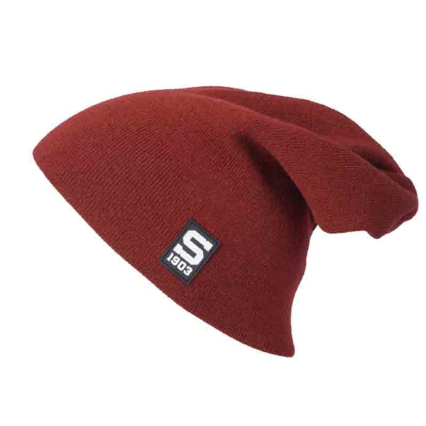 Light beanie burgundy with silicone logo Sparta for Kids