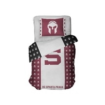 Bedding set HC Sparta Praha with helmets