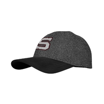 Cap for kids icon grey melange burgundy outline S Sparta