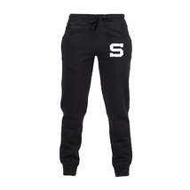 Joggers for kids black with white S