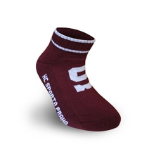 Socks retro S - burgundy