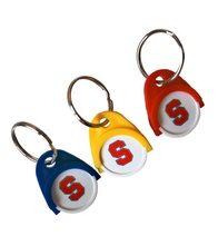 Keyring with shopping chip