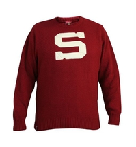 Men's retro sweater HC Sparta-burgundy