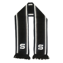 Scarf black&white with Spartan logo embroidery