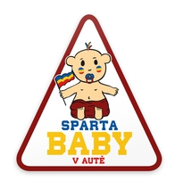 "Sticker Sparta ""Baby on Board"""