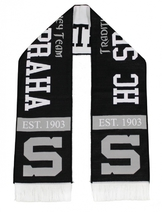 Knitted scarf  HC Sparta Praha - black and white